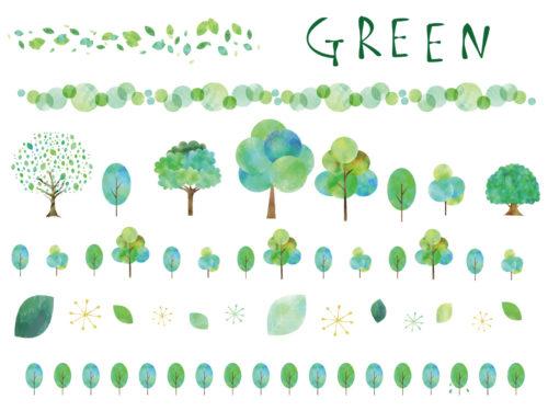 緑色の効果