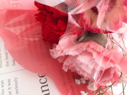 マミーマートの花屋さんでワンコインで買える花束