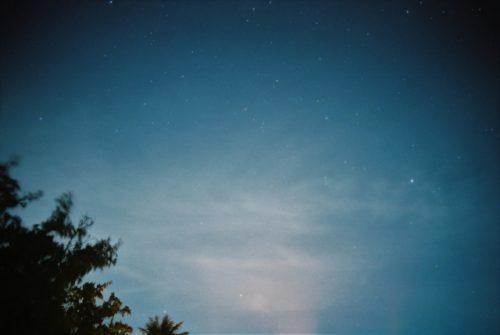 ペルセウス座流星群を結城市鹿窪運動公園で観測