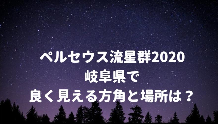 ペルセウス流星群が岐阜県で良く見える方角と場所は?
