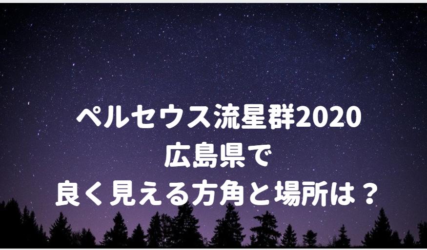 ペルセウス流星群が広島で良く見える方角と場所は?