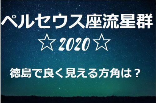 ペルセウス流星群が徳島で良く見える方角と場所は?