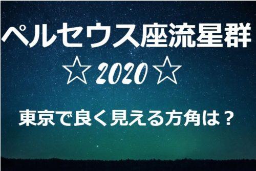 ペルセウス座流星群が東京で良く見える方角は?