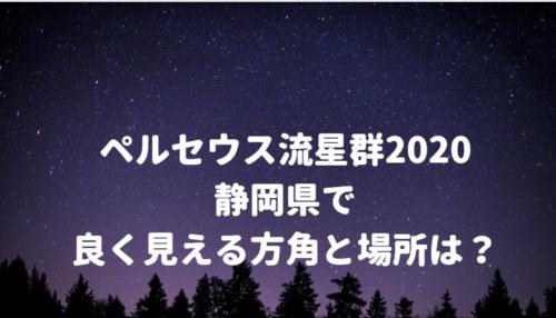 ペルセウス流星群が静岡県で良く見える方角と場所は?