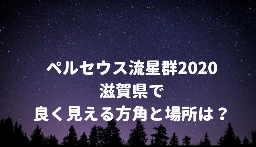 ペルセウス流星群が滋賀県で良く見える方角と場所は?