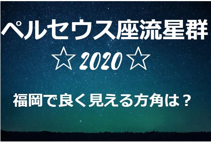 ペルセウス流星群が福岡でよく見える方角や場所は?