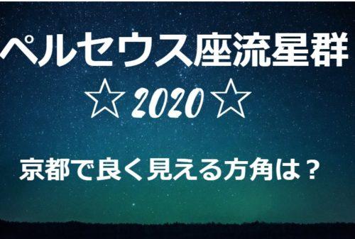 ペルセウス座流星群が京都で良く見える方角と場所は?