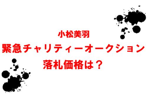 小松美羽緊急チャリティーオークション落札価格は?