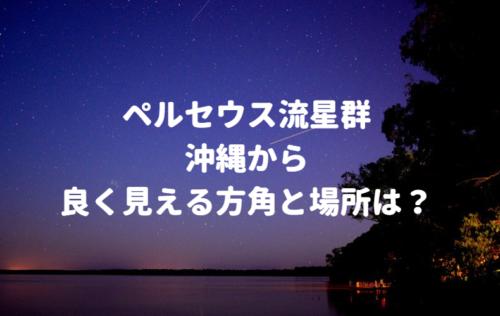 ペルセウス流星群が沖縄で良く見える方角と場所は?