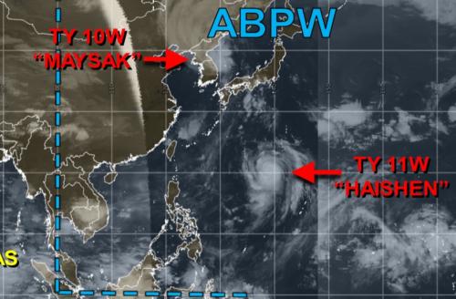 台風10号9月3日午後1時の様子
