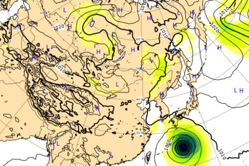 台風10号5日予想図