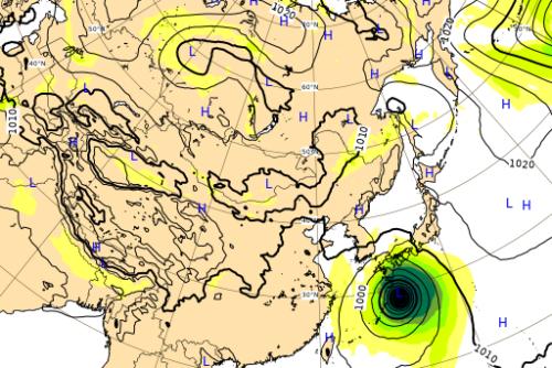 台風10号ヨーロッパ進路予想図0906