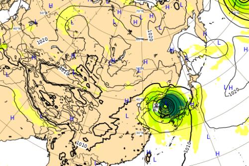台風10号ヨーロッパ進路予想図