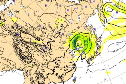 台風10号9月8日進路予想