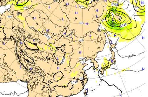 台風10号進路予想9月11日
