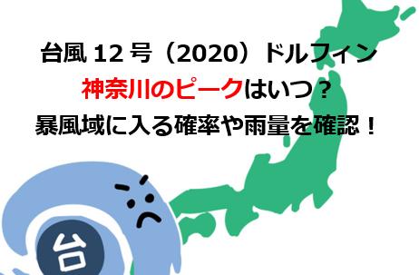 台風12号神奈川のピークはいつ?暴風域に入る可能性は?