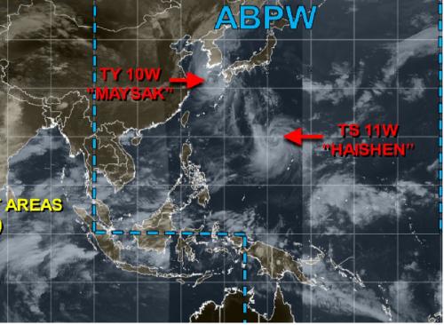 台風10号9月2日現在地