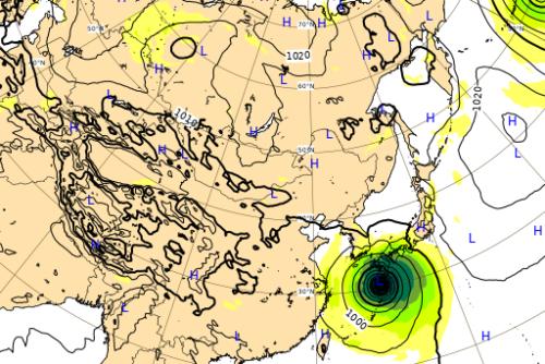 台風10号9月6日進路予想