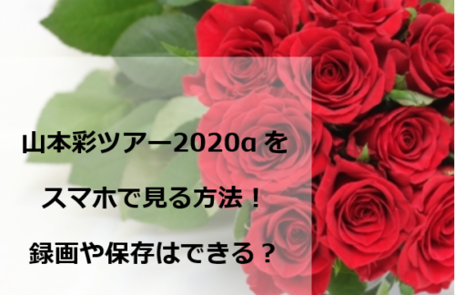 山本彩ツアー2020αをスマホで見る方法