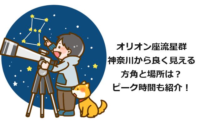 オリオン座流星群神奈川から良く見える方角は?場所やピーク時間も紹介