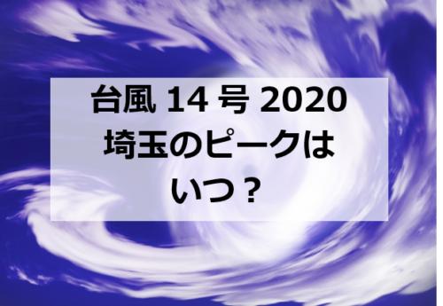 台風14号埼玉のピークはいつ?