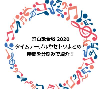 合戦 紅白 2020 歌