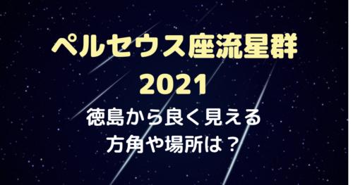 ペルセウス座流星群2021徳島